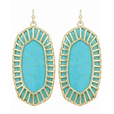 Kendra Scott Delilah Earrings in Turquoise 14k Gold Plated. I have these in many colors, love them.