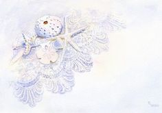 Shells on Lace giclee print - product images