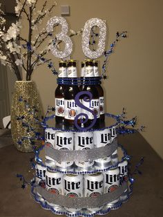 Beer Cake I made for boyfriends 30th  birthday #beercake