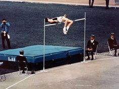 Dick Fosbury - the inventor of the Fosbury Flop, and first to win the Olympic high jump gold medal by jumping backwards, in a new Olympic record height of Mexico 68, Mexico City, Olympic Records, Oregon State University, Threes Game, High Jump, Summer Dream, Sports Pictures, Summer Olympics
