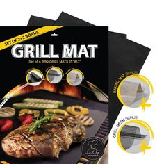 La-Chef Grill Mat -As seen on TV -BBQ Mats for Gas,Charcoal,Electric Grills- Set of Reusable- Keep Grill Marks and Flavor Intact * Click image for more details. Chef Grill, Bbq Grill, Grilling, Gas Grill Reviews, Large Bbq, Pancakes And Bacon, Best Bbq, Bbq Party, Charcoal Grill