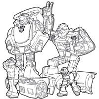 PLAYSKOOL Heroes Transformers Rescue Bots Coloring Page - Heatwave