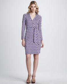 New Jeanne Two Silk Wrap Dress by Diane von Furstenberg at Neiman Marcus.