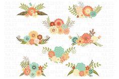 Wedding Floral Clipart - Illustrations - 1