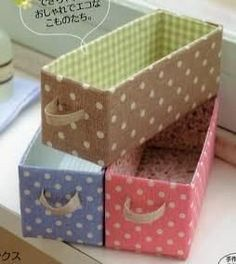Ideas For Craft Storage Diy Upcycling Diy Storage Boxes, Craft Room Storage, Tetra Pak, Milk Carton Crafts, Recycled Shoes, Fabric Covered Boxes, Recycling Containers, Milk Box, Cardboard Crafts