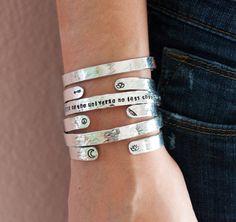 Customize a 1/4 Aluminum cuff braceletpersonalized by ZennedOut