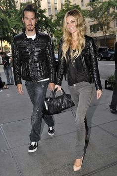 Marissa Miller and husband Griffin Guess seen outside the Gramercy Park Hotel in New York City.C.