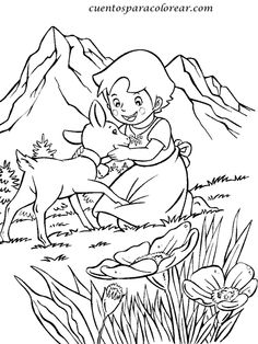 87 Best Heidi And Peter Images Souvenirs Heidi Cartoon Coloring