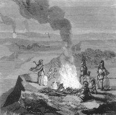 Las fogatas de Agamenon durante la guerra de Troya