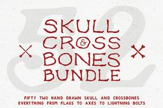 Skull and Crossbones Bundle by Design Surplus on Creative Market