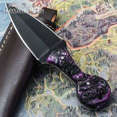 ALONZO KNIVES USA CUSTOM HANDMADE TACTICAL DAGGER 1095 KNIFE CORELON HANDLE 2066 #AlonzoKnives