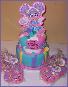 Abby Cadabby Birthday Cake and Cookies - Click image to find more Kids Pinterest pins