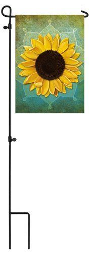 """August Sunflower Garden Flag by House Impressions. $4.95. Hand-crafted. Made of high quality fabric materials. Fade-resistant colors. Spot clean only. Line dry.. Approximate dimensions are 12.5"""" x 18"""". Flags are the greeting card of your home! Add a piece of colorful and welcoming décor to your outdoor setting with one of these flags. Made of durable materials, the vibrant colors in this flag will last for years to come."""