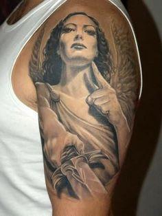 Angel Girl Tattoo On Shoulder | Tattoo Styles