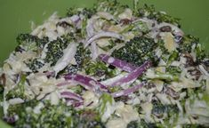 Brokolicový salát s červenou cibulí   NejRecept.cz Vegetable Salad, Mozzarella, Pasta Salad, Asparagus, Potato Salad, Catering, Cabbage, Food And Drink, Meals