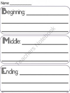 Narrative Writing Templates and Graphic Organizers - BME Model product from Ms-Lyric on TeachersNotebook.com