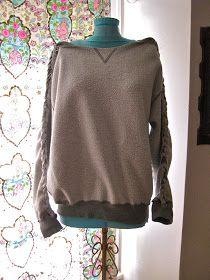 Green Eggs and Hamm: DIY Braided Sweatshirt