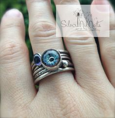 stacker ring by Niky Sayers using one of Jen Cameron's headpins