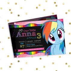 My Little Pony Invitation and Thank You card  by DigitalJamboree