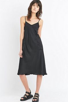 MM6 Black Slip Dress