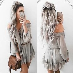 This is such a beautiful hairstyle and outfit!✨ by @emilyrosehannon Follow @fashiontutori.als