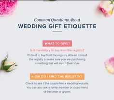 Wedding gift etiquette. How to give the perfect gift for the happy ...