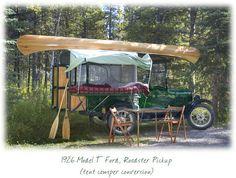 1926 model t ford, roadster pickup tent camper conversion