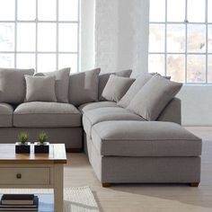 Settle down after a long day with some snacks and a great movie. Our Grosvenor corner sofa is big enough for the whole family to sit and relax. Lounge Decor, Ikea Living Room, Sofa, Corner Sofa Living Room, Gray Sofa, Big Grey Sofa, Corner Couch, Ikea Living Room Furniture, Couch Furniture