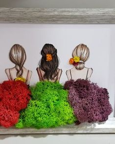 Moss Wall Art, Moss Art, Wall Art Decor, Diy Crafts For Home Decor, Diy Arts And Crafts, Moss Graffiti, Diy Wall Planter, La Petite Boutique, Small Balcony Design