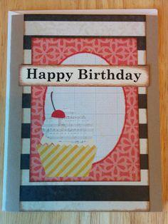 Happy Birthday Musical Cupcake Card by Cindysnoopy on Etsy, $3.50