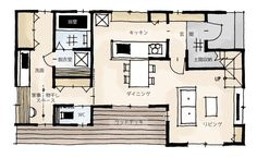 脱衣室と洗面を分けた間取り Small House Plans, House Floor Plans, Plan Sketch, House Layouts, Laundry Room, My House, Interior Decorating, How To Plan, Architecture