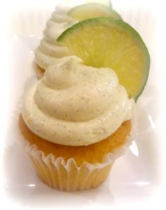 Lime Margarita Cupcakes With TEQUILA frosting :):):) - could be fun for a bride/bridesmaid day