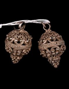 Russia: two silver buttons from the Tatar people. Silver Buttons, Vintage Buttons, Viking Jewelry, Antique Lace, Ethnic Jewelry, Vintage Sewing, Precious Metals, Russia, Wax
