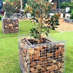 Gabion Cages, gabion baskets, gabion retaining wall, gabion rock, gabion letterbox, curved gabion wall, gabion planter