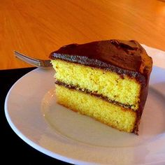 One Perfect Bite: Vanilla Cake with Old-Fashioned Chocolate Frosting