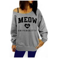 """✨FLASH SALE✨ Meow Universkitty Long Sleeve Top Super cute Meow Universkitty Long Sleeve Top is made of cotton and is perfect for any cat lover. True to size. 36"""" Bust. Tops Tees - Long Sleeve"""