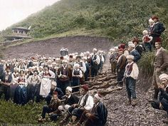 A group of peasants, Bosnia. This color photochrome print was created between 1890 and 1900 in Bosnia, Austro-Hungary
