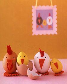 lavoretti per Pasqua pulcini galline e galletti