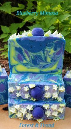 Blueberry Mimosa artisan handmade soap, ForestandFrond.etsy