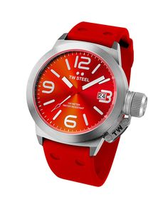 TW Steel Canteen Red Dial Red Silicone Mens Watch TW510 * Details can be found by clicking on the image. (This is an Amazon Affiliate link and I receive a commission for the sales)