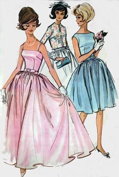 CLEARANCE SALE 1960s Dress w/ Camisole or Bateau Neckline, Full Skirt McCalls 6578 Vintage 60s Sewing Pattern Size 9 Junior Bust 30.5 UNCUT