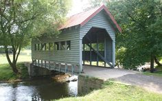 River Valley Ranch in northeast Carroll County {Ohio} is the home of this picturesque covered bridge. #udderlysmooth #coveredbridges