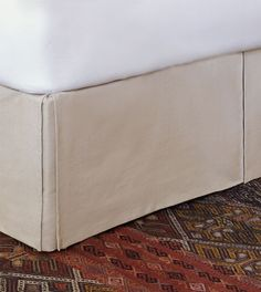 Vivo Bisque Bed Skirt from Eastern Accents