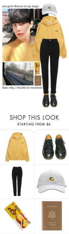 """""""Untitled #321"""" by spisakreka ❤ liked on Polyvore featuring Dr. Martens, Topshop and Royce Leather"""