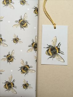 Bee gift wrapping paper by Sarah Boddy - available from Manchester Bee Company
