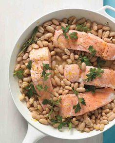 Salmon with White Beans