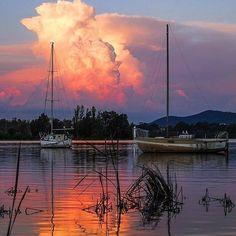 Lac Burley Griffin à Canberra, Australie NSW