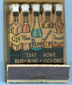 vintage booze matches by jericl cat via flickr