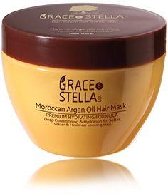 NEW Premium Argan Oil Hair Mask, Deep Conditioner 8 Oz., 100% Organic Jojoba Oil, Aloe Vera & Keratin, Repair Dry, Damaged Or Color Treated Hair After Shampoo, Best For All Hair Types - Sulfate Free Grace & Stella Co. http://www.amazon.com/dp/B017GGKR44/ref=cm_sw_r_pi_dp_fSt8wb0TWV9HD