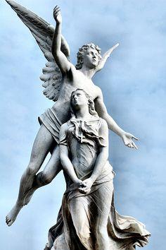 Beautiful Angel Statue - Poble Nou Cemetery, Barcelona